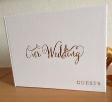 Always And Forever OUR WEDDING GUEST BOOK  White/Gold New & HB