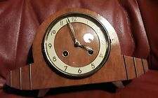 SMALL FRANZ HERMLE 2KEY TING/TANG STRIKING MANTLE CLOCK & KEY IN E.W.O FHTT