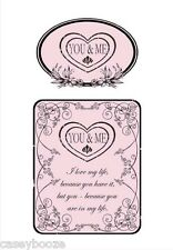 Clear Rubber Stamps - Botanical You & Me - Sentiments - 1010 - New Release
