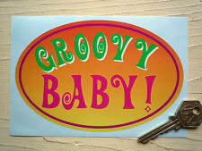 GROOVY BABY 60's style car & VW hippy camper sticker