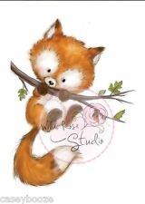 Wild Rose Studio - Clear Rubber Stamps - Fox On Branch - 450 - New Out