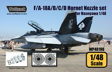 Wolfpack Design 1/48 F/A-18A/B/C/D Hornet F404 Engine Nozzle Set for Hasegawa