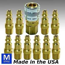 11pc Heavy Duty Quick Coupler Set Air Hose Connector Fittings 1/4 NPT Tools Plug
