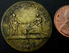 """R798: 1831 British Royal Family """"Crowned"""" Medal - King William IV & Adelaide"""