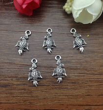 Wholesale 16pcs Tibet silver Parrot Charm Pendant beaded Jewelry Findings AA-334