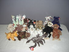 Lot of 24 Collectible Beanies Babies ~ Princess, Mystic, Pugsly, and more