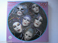 "Mask-erade 500 Interlocking Piece Jigsaw Puzzle New Sealed 20"" Round Maskerade"