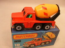 1978 MATCHBOX LESNEY SUPERFAST #19 CEMENT TRUCK NEW MIB