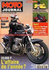 MOTO JOURNAL 1167 YAMAHA SR 500 VD Classic SUZUKI GSX 600 Bandit GTS BMW K1100