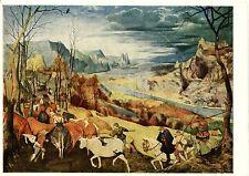 Alte Kunstkarte - Pieter Brueghel d.Ä. - Heimkehr der Herde