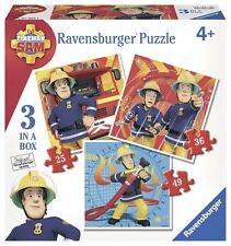 3 Ravensburger puzzle * bombero sam*25 + 36 + 49 piezas * rareza * OVP