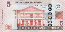 Suriname 5 Dollars 2010 Pick 162  (1)