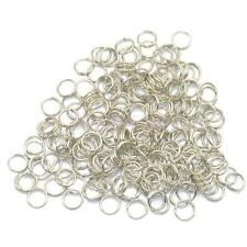 200x QUALITY ROUND SILVER TONE KEY SPLIT RINGS BAG CHARMS FINDINGS 6mm BLANK