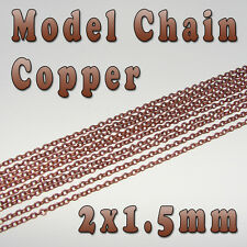 Hobby Model Chain - 2mm x 1.5mm - Copper color - Per Meter