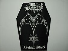 HELLHAMMER  SATANIC RITES  COFFIN     EMBROIDERED PATCH