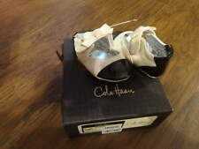 COLE HAAN BABY INFANT GIRLS 2 MINI CAP BOW WHITE BLACK SHOES