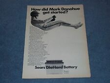 """1969 Sears DieHard Battery Vintage Ad """"How Did Mark Donohue get Started?"""""""