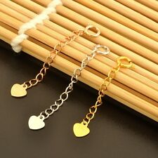 """1.3"""" Authentic 18K Gold Extended Chain For Necklace & Bracelet 3 Metal Available"""