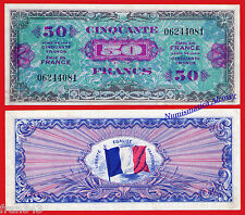 FRANCIA FRANCE 50 francs 1944 Military WWII Pick 122    XF+ / AUNC