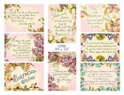 Floral Birthday Greetings /Sentiments Card Toppers / Message Cards / Card Making