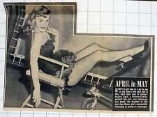 1952 April Kent Daughter Of Filmstar June Havoc