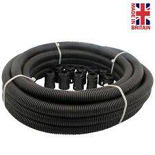 Black Flexible Conduit Contractor Pack size 25mm -10 m of Conduit + 10 Glands