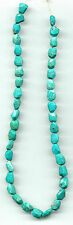 """FACETED HUBEI TURQUOISE NUGGET BEADS - 818A - 15.75"""" Strand"""