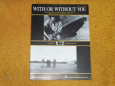 U2 sheet music With or Without You 1987 8 pages (VG+ shape)
