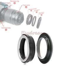 AI-52 Reverse Macro Adapter + 52mm Rear Lens Filter Ring For Nikon F AI Mount