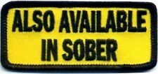 Also Available In Sober Funny Embroidered Motorcycle Biker Vest Patch PAT-2669