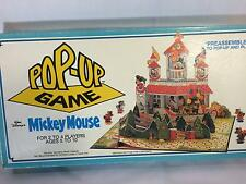 Vintage Mickey Mouse Walt Disney Pop up Board Game 1982 Whitman Instructions