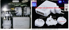 2PK LED 4 Port USB AC Adapter Home Travel Wall Charger For iPhone iPad Samsung