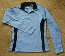 SAUCONY jersey size M blue long sleeve 1/4 zip