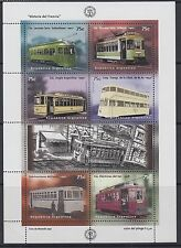 RAILWAYS: ARGENTINA 1997 Centenary of Electric Tramway sheetlet SG2531-6 MNH