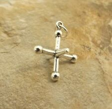 Sterling Silver Charm - 3d Game of JACKS Playing Piece - 2963