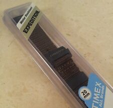 Timex Expedition Brown Nylon Camper 20mm Watch Band Water Resistant Watchband