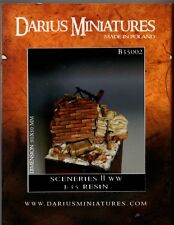 DARIUS MINIATURES B35002 - SCENERIES WWII DIORAMA - 1/35 RESIN KIT NUOVO