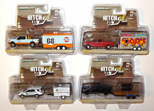 GREENLIGHT HITCH & TOW RELEASE 7 COMPLETE 4-TRUCK & TRAILER SET A29