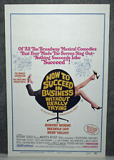 HOW TO SUCCEED IN BUSINESS WITHOUT REALLY TRYING orig 1967 ROLLED movie poster