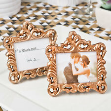 10 x Rose Gold Vintage Baroque Design Place Card Holder Wedding Table Event SF