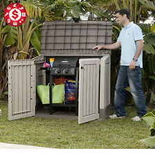 Outdoor Storage Large Box Plastic Shed Garden Sheds Tools Pool Patio 30 cu ft