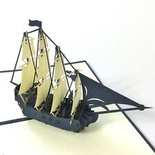 Spanish Galleon Ship (small) pop up 3d card