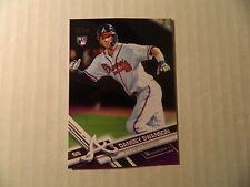 2017 Topps Series1 Purple Parallel Rookie card of Dansby Swanson - Braves - Rare