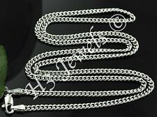 3.60 grams 18k solid white gold curb link chain necklace 18 inches