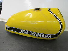 VINTAGE YAMAHA 74 SC500 GAS FUEL TANK DENTED WITH RUST INSIDE