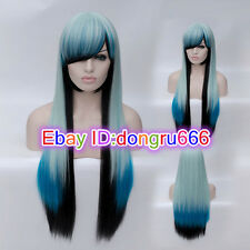 New Harajuku Long Curly Wavy Hair Full Wigs Cosplay Party Anime Lolita Wig