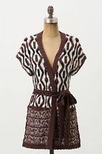 NIP Anthropologie KNITTED KNOTTED Twisted Yarns Cardigan Sweater Belt M