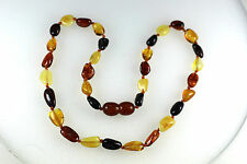 Natural Genuine Baltic amber baby necklace Multicolor