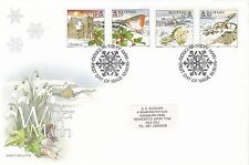 1995 Isle of Man CHRISTMAS Stamps SET 4v FIRST DAY COVER Ref:A48