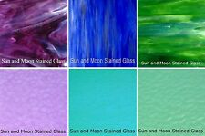 Wissmach Glass Stained Glass Sheet Pack (COOL TWO-TONE #B) - 6 Sheets of 8x10